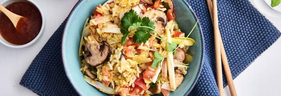 Pittige rijstschotel
