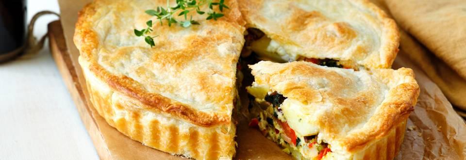 Griekse taart met spinazie en feta