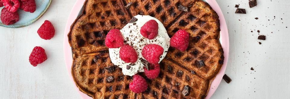 Luxeontbijt-chocoladewafels