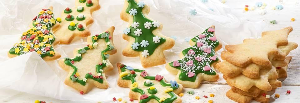 Versierde kerstkoekjes