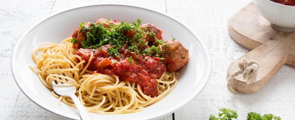 Italiaanse gehaktballetjes met tomatensaus